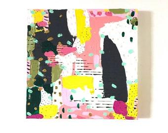12 x 12 Orignal Painting on Canvas Abstract Art / Modern Art / OOAK / Acrylic Painting / Nursery wall art Kids room wall art office wall art