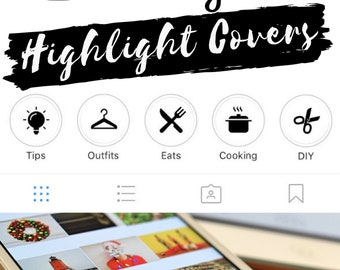 Instagram Stories Highlight Covers in White Colour - Set of 20