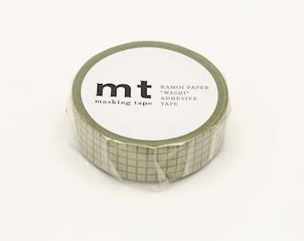 mt 1P Grid Moss Japanese Washi Tape Masking Tape  Price depends on order volume. MT01D404