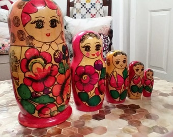 Matryoshka, 5 pieces, bought in St. Petersburg