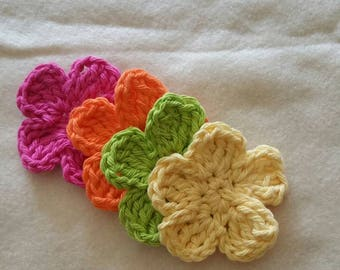 Crochet 5 Petal Flower Applique PDF Pattern