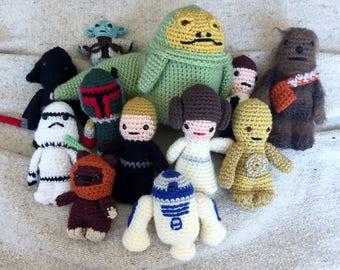 Star Wars Crochet Figures Individual Jabba Boba Fett Ewok R2D2 C3PO Luke Skywalker Princess Leia Darth Vader Yoda Han Solo Chewbacca