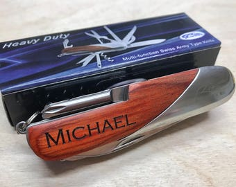 Multitool Engraved Pocket Knife, Personalized Knife, Multi tool Knife, Unique Pocket Knife, Multi purpose knife, Gift ideas for Him, Knife