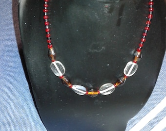 Mineral bead embellished glass