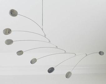 Mobile Modern Pebble, Minimalism, Retro Mobile, Calder Style, Hanging Mobile, Modern Mobile
