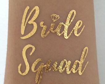 Bachelorette Party Flash Tattoo, Bachelorette Tattoos, Bride Squad Flash Tattoo, Bachelorette Party Tattoos - Bride Squad