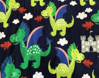 NEW-Knit-DRAGONS & Castles-Blanket Sleep Sleeper Sack-4T-5T-Handmade-Custom