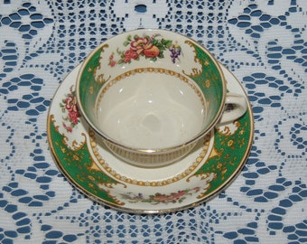 "Beautiful Very Rare, Circa 1891 Bridgwood & Son ""Brantwood"" Porcelain Teacup And Saucer"