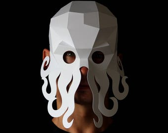 OCTOPUS Mask - Easy to make octopus mask with this PDF download