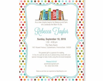 Book theme baby shower invite, story book baby shower invitation, bring a book invite instead of card, book request, printable baby shower