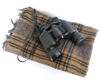 VINTAGE SCOTTISH Handwoven SHAWL/ Knapdale Woven in Argyle