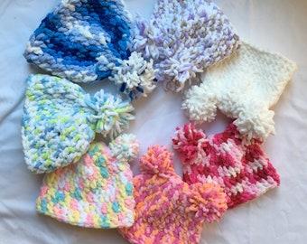 Custom Handmade Crochet Baby Hats