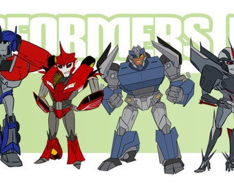 Transformers Prime Sticker Set
