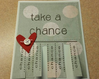 Handmade Sewn Inspirational Greeting Card. Just Because.Encouragement. Thinking of You