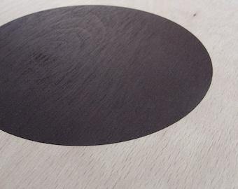 circle screenprint on plywood / dark violet