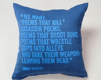 Amiri Baraka Pillow