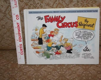 """Vintage 1998 """"The Family Circus by Request"""" Hardcover!  Bill Keane!  120 Pages of Delightful Heart-Warming Cartoons!"""