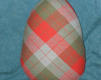 Tailor's Ham Red Plaid Seamstress for Sewing Seams Pressing Dressmaking
