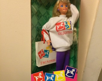 1994 FAO Schwarz Shopping Spree Barbie Free Shipping