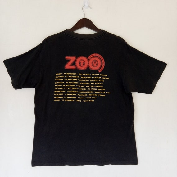 music Zoo Promo Concert tee rock shirt band Tour U2 Irish album new VINTAGE rock band alternative Japan wave 90s 1993 pop Tv t W8ORqBa