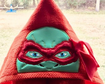 Hooded turtle bath towel bathtimd fun towel turtle ninja skeppy piggy mouse towel Custom towel