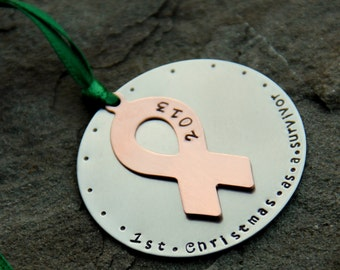 Survivor Christmas Ornament, Survivor, Cancer, Breast Cancer, Christmas Gift for Survivor, Wellness