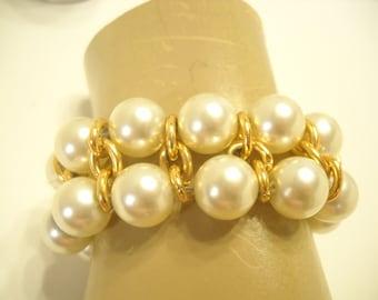 FAUX PEARL STRETCH Bracelet (7313)