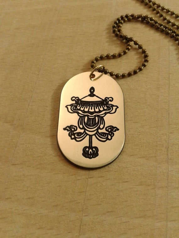 Buddhism Symbol Good Umbrella Necklace
