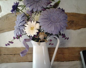 FLORAL WHITE PITCHER