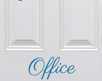 Office Door Decal, Office Sticker, Removable Vinyl Door Decal, Vinyl Door Sticker, Door Sign