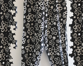 Gnarly 90's Vintage Body Builder Floral Hawaii 'Cant Touch This' MC Hammer Drop Crotch Pants 56PYix8dsX