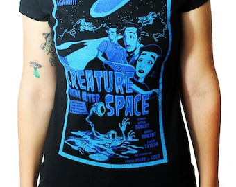 Creature from Outer Space ladies tee