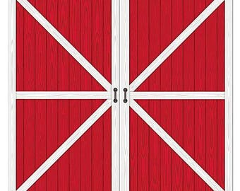 red barn doors. XL Red Barn Door Prop/ Western Party Back Drop/ Farm Birthday Photo Booth Doors