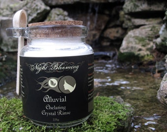 Alluvial Chelating Crystal Rinse 255g Jar w Wooden Spoon