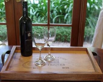 Raymond Lafon Sauternes Wine Panel Timber Tray.A unique gift!