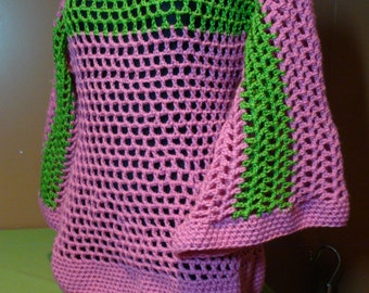 Crochet Pullover - AKA Sorority Colors -  Custom Colors Available