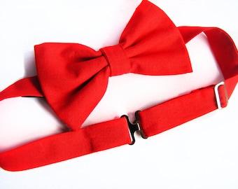 Red Man Bow Tie - Festive Formal Wear BowTie - Men Suit Blazer Accessories