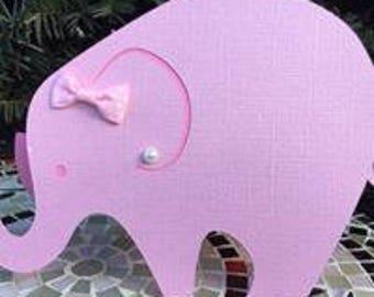 Elephant Invite - Baby Shower