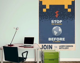 Stop The Space Invaders Wall Decal - #70328