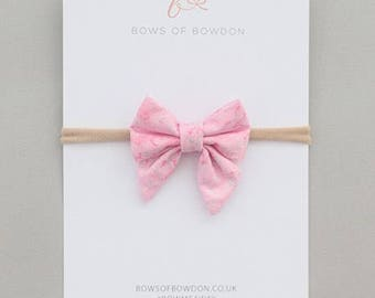 Fairy Frost pink and silver glitter Olivia bow