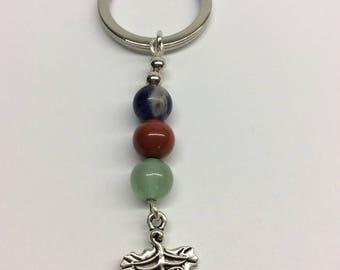 Semi-Precious Gemstone Key Ring