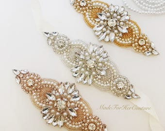 Wedding belt, wedding dress sash, bridal belt/sash,crystal pearl bridal sash, silver crystal sash, wedding accessory-rhinestone belt sash