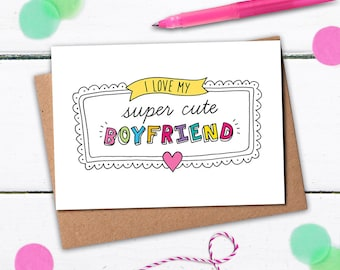 Funny boyfriend card, Boyfriend Birthday card, Birthday card boyfriend, I love you card, Card for boyfriend, Super Cute Boyfriend