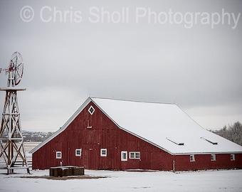 Snowy Barn , Fine Art Photography, Nature, Colorado, PRINT OR CANVAS