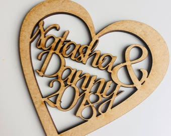 Unique wooden laser cut personalised coasters