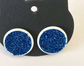 Fun White Stud Earrings