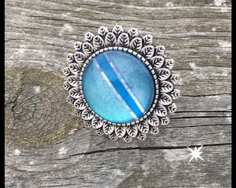 Ring lagoon teal and Royal Blue