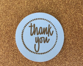 Thank You Embossed Gift Tag (Set of 5)