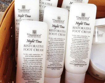Restorative Foot Cream, Natural, Super moisturizing. Non-greasy. Also great for dry skins any where, Hands, Elbows, Knees