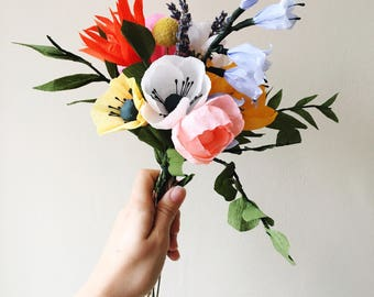 Colourful Paper Bouquet / Mothers Day Gift / Flowers for Mum / Mom Bouquet / Lasting Flowers / now on BACK ORDER